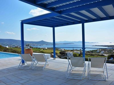 "Photo for ""White Blue"" Single Spaced Apartment with Ocean View ""Parasporos"" Krotiri Paros"