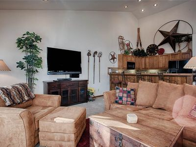 Photo for Quick Walk to Main St Breckenridge! Outdoor Hot Tubs/Pool! Attached Garage, Sleeps 8!