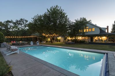 Enjoy an evening swim, relax in spa or play bocce under the party lights!