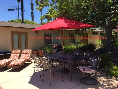Photo for Quiet  affluent neighborhood, Close to Beach, large backyard, private pool!