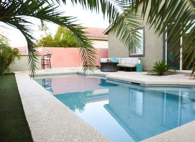 Outside the door is your private pool.  Optional heat, dependant on air temps.