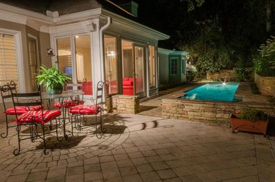 Amazing outdoor private pool and entertainment area..