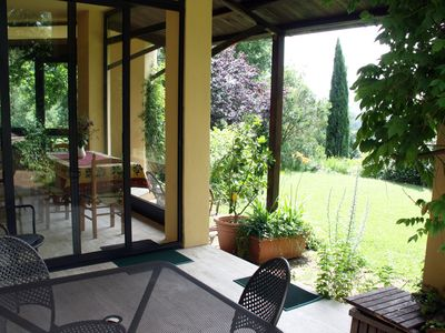 Photo for Roman Countryside with Garden/Pool Overlooking Lake Bracciano/Sea, WIFI, Sat TV