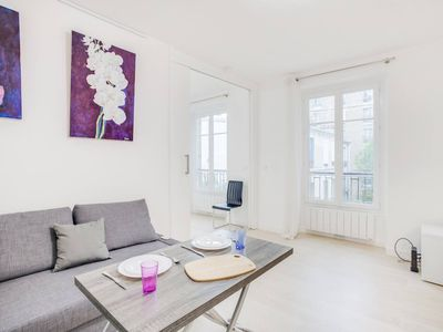 Photo for Minimalist Apartment in Rue Hippolyte - 14th Arrondissement