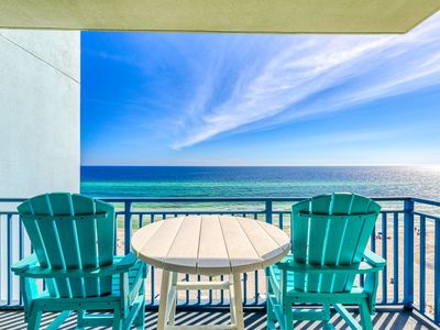 Photo for Beautiful beach view condo with community pool and hot tub, walk to the beach!