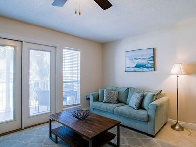 Photo for Come to the Beach! Private Balcony and Community Pool. Comforts of Home with Short Walk to the Beach