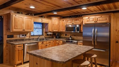Fully equipped kitchen for all your cooking needs.