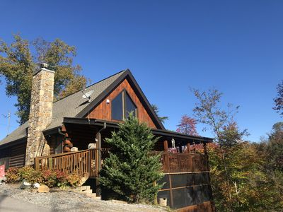 Photo for Beautiful Smoky Mountain Cabin On Douglas Lake with Private Dock - Sleeps 11