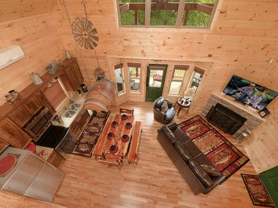 Photo for LUXURY RIVER FRONT CABIN-NEW CONSTRUCTION 2019 *****FIRE PIT** - FREE WIFI 2BD/2