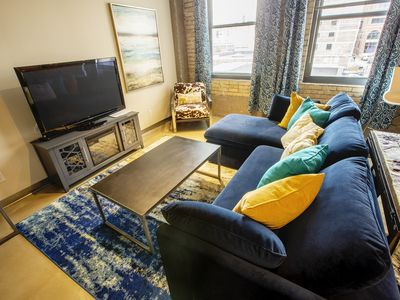Photo for Industrial Modern 1 BR Apt in the Chic North Loop of Downtown Minneapolis