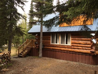 Photo for Log Cabin W Bedroom Loft, Seperate private Bath House and Boat House
