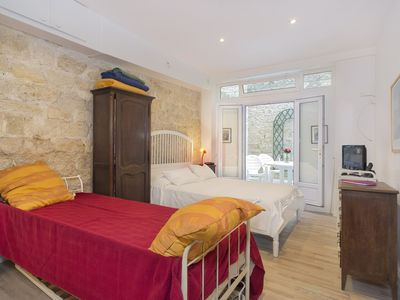 Photo for Private Patio Steps From rue Cler! Charming Studio - Sleeps 3!
