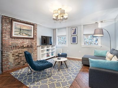 Photo for FANTASTIC 2BD/2BR DUPLEX WITH YARD - 15 MINS TO NYC!! SLEEPS 6!!