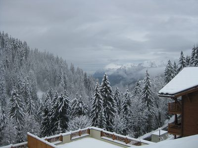 Winter view from terrace