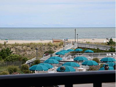 Photo for 203N: 2BR Updated Sea Colony oceanfront condo | Private beach, pools tennis ...