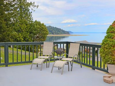 Generous deck to take in views of Hood Canal