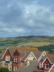 View of the Purbeck hills from sitting room
