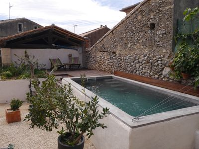 Photo for Village house with pool between sea and mountains