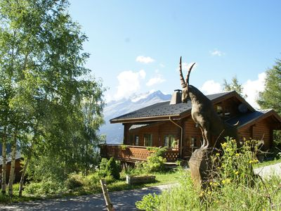 Photo for Cozy solid pine Finnish chalet at the top of conversational Valfrejus