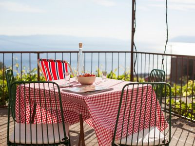 Photo for Stone house with sea view, terrace and barbecue area, peacefull