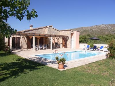 Photo for Quiet country house with stunning views of the castle of Capdepera