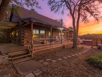 Photo for Gorgeous Log Home on Private Acres  *Hot Tub*