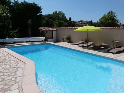 Photo for IDEAL FOR A COUPLE OR FAMILY STAY / HEATED POOL / CLIM / PRES LUBERON