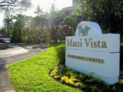 Entrance to the Maui Vista Resort, just across the street from the beach