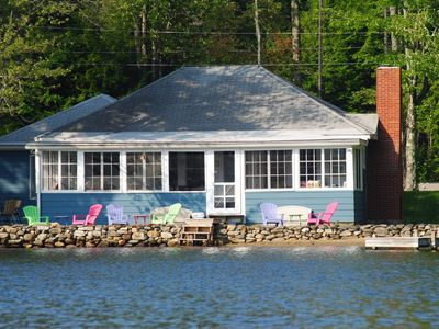 Photo for Beautiful lakefront cottage on Mountainview Lake in Sunapee, NH