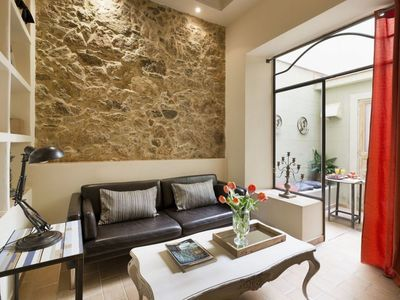 Photo for Spacious Palace 3 apartment in Gràcia with WiFi, air conditioning, private parking & private terrac…