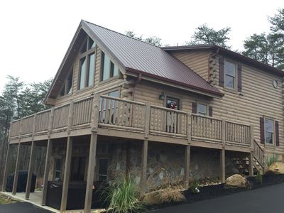 Photo for BOOK NOW! HOT AUG. SPECIAL $349 A NIGHT NEW CABIN, SEE OUR VIRTUAL TOUR/REVIEWS