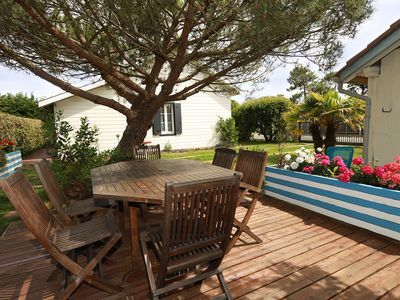 Photo for 450 m from the beaches, fully equipped house with garden.