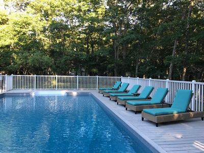 our pool has plenty of room for lounging with friends and family