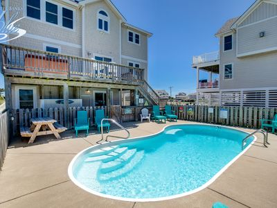 Photo for Fins Up   630 ft from the beach   Private Pool, Hot Tub