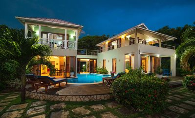 Photo for WATERFRONT BALINESE STYLE! POOL! STAFF! SUNSETS! Little Waters Negril 3BR