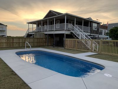 Photo for Sandcastle Cottage, classic Nags Head w/direct beach access Sunday check in