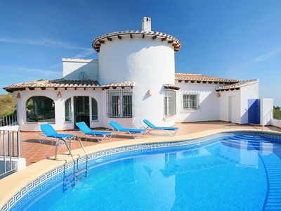 Photo for Stunning private villa with WIFI, private pool, A/C, TV, washing machine and parking