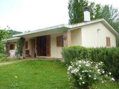 Photo for Villa + private pool and garden, Sabina area, north of Rome, WiFi, superb views