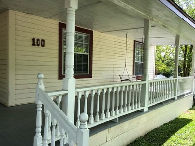Spacious Front Porch with swing