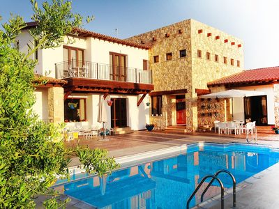 Photo for Brand New stone-built Villa With Private Pool And Sea Views