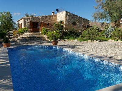 Photo for Peacefully located stone finca with a guest house, pool and garden