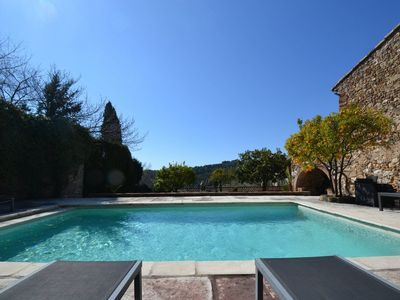 Photo for Biot Holiday Villa 18th Century Pottery with Pool