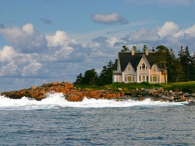 Great Duck Island House seen from the water.