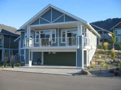 Front of House with Partial Lakeview
