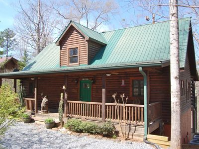 Photo for Vacation cabin in Lake Lure ~ Mirror Lake ~ great family space!