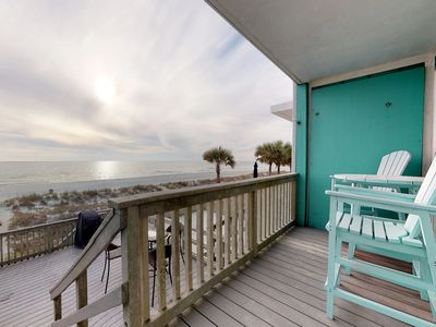 Photo for NEW LISTING! Beachfront townhome w/ large deck & Gulf view - near Pier Park!