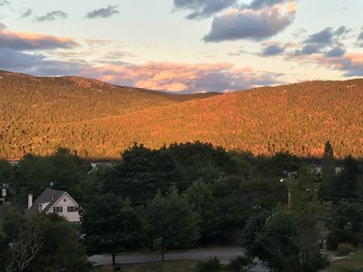 Mountain views from your deck `sunset