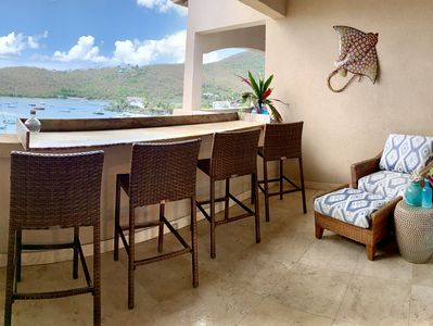 1 bedroom front balcony with electric grill