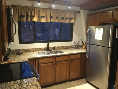 Beautiful granite countertops and stainless steel appliances