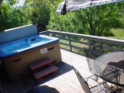 Private six-person hot tub!